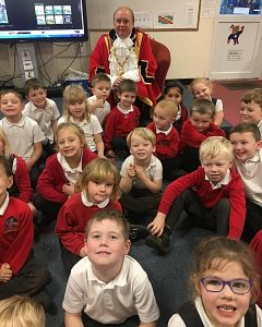 Mystery reader - Mayor at Shavington Primary