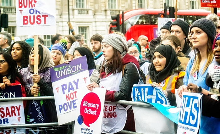 NHS nurses pay protest planned - stock image courtesy of Garry Knight, licence free