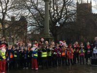 Carol singing Nantwich youngsters bring festive cheer to shoppers