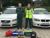 Nantwich First Responders welcome town's first 24-hour defibrillator