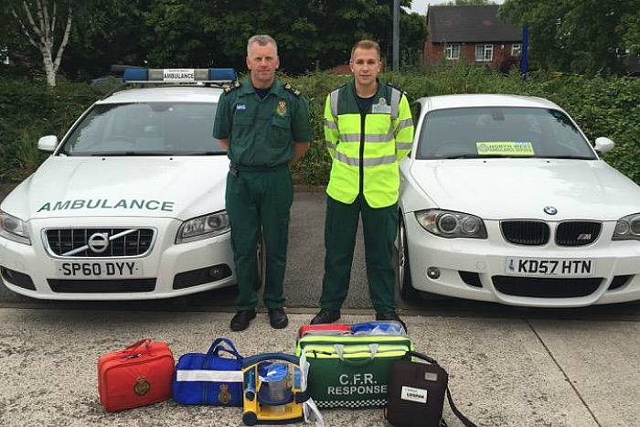 Nantwich Ambulance First Responders Gavin Palin (left) and Max Kelly