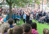 Thousands enjoy Nantwich Fete and SkoolsFest