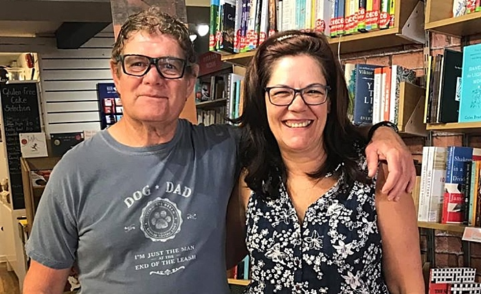 Nantwich Bookshop & Coffee Lounge - owners Steve and Denise Lawson (1)