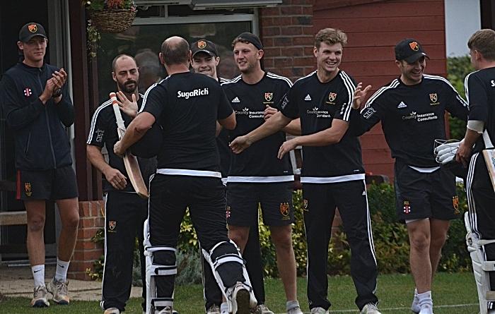 Nantwich CC celebrate T20 victory