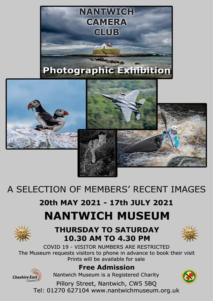 Nantwich Camera Club - Photographic Exhibition 2021 at Nantwich Museum - poster