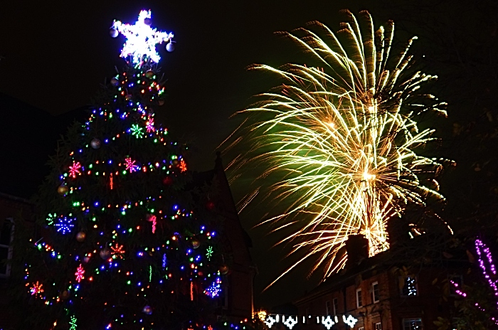 Nantwich Christmas Lights switch-on - Applewood Independent Christmas Tree and fireworks from Blitz Fireworks (1)