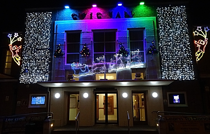 Nantwich Civic Hall - Christmas lights (1)