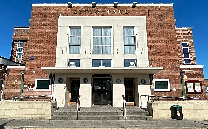 Nantwich Civic Hall frontage - May 2020 (1)