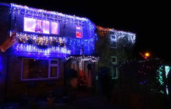 Nantwich - Cope Avenue, Christmas lights