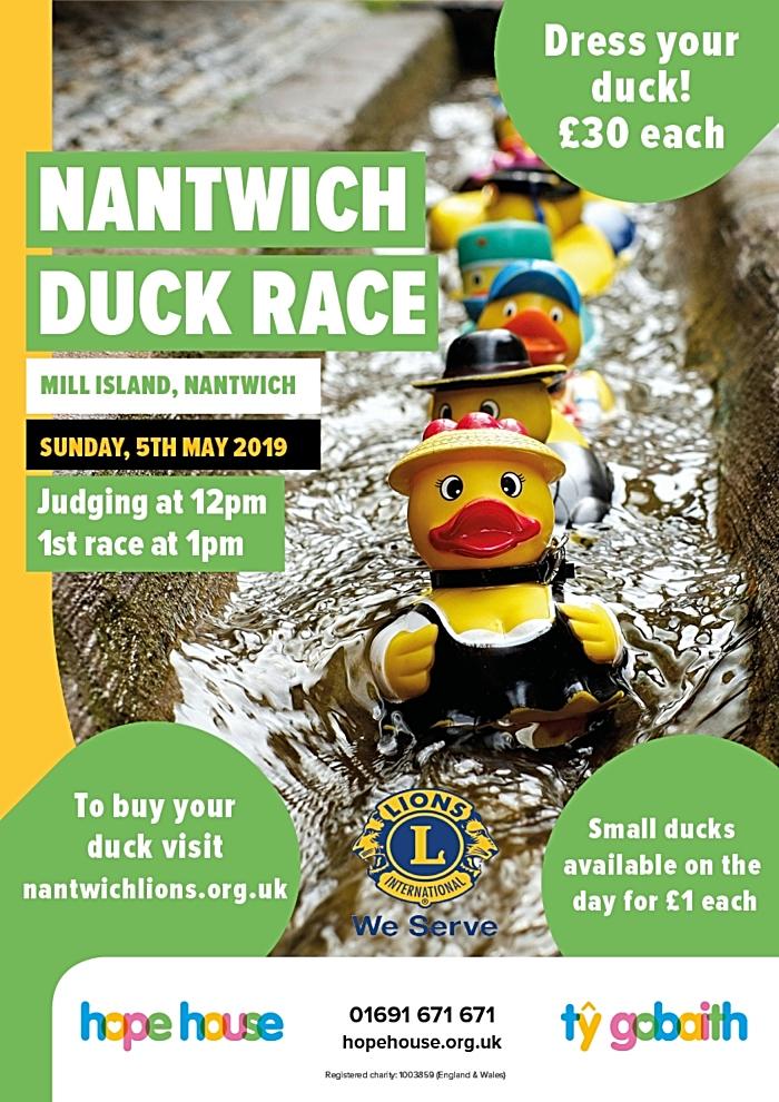 Nantwich Duck Race 2019 flier (1)