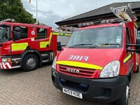 Fire crews tackle building fire in Wistaston