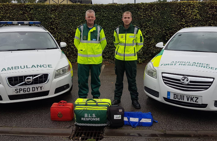 Nantwich First Responders Gavin Palin and Max Kelly