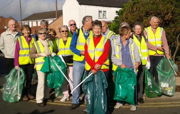 Nantwich Litter Group volunteers at a recent town pick, Clean for the Queen campaign