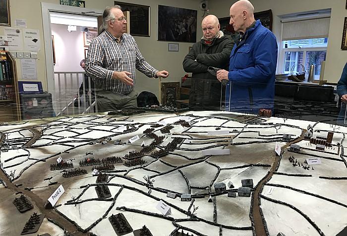 Nantwich Museum - Battle of Nantwich battlefield model display