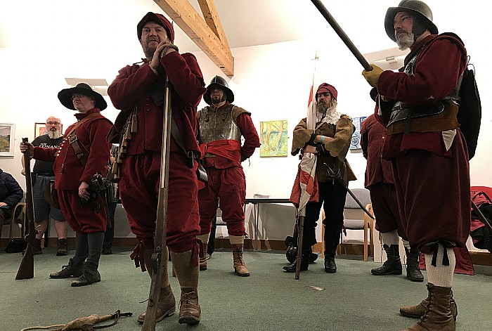 Nantwich Museum-musketry demonstration by Sealed Knot