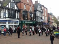 Remembrance Sunday service in Nantwich town centre