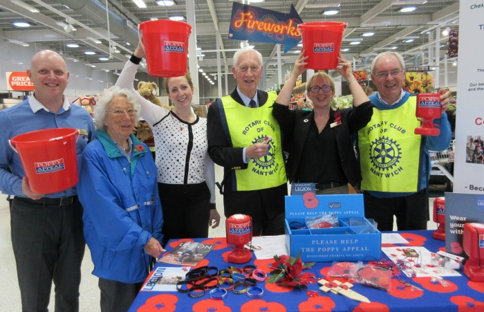 Nantwich Sainsbury's poppy collection