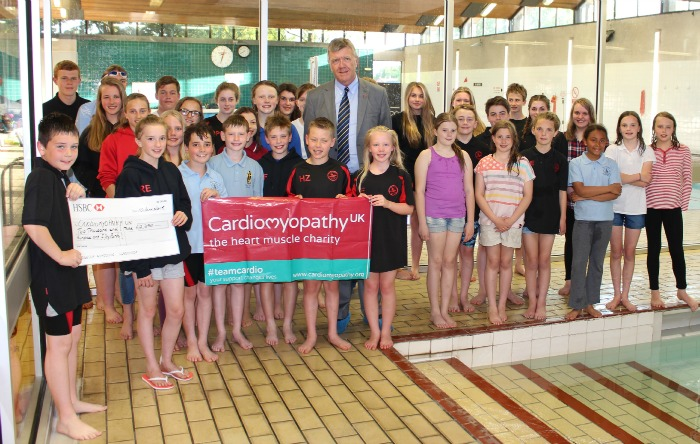 Nantwich Seals swimmers Cardiomyopathy UK fundraising effort