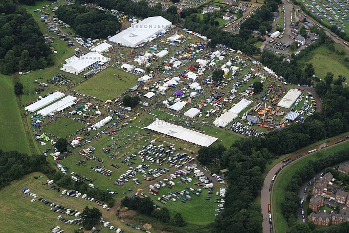 Nantwich Show 2016 overhead image, pic by 'Jefferson Air Photgraphy' from Chester