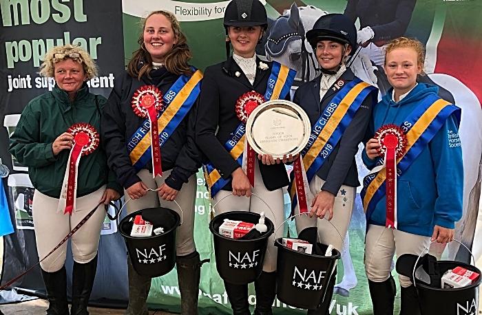 Nantwich Team of four - riders, dressage