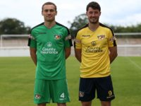 Nantwich Town players put through paces in new team strips