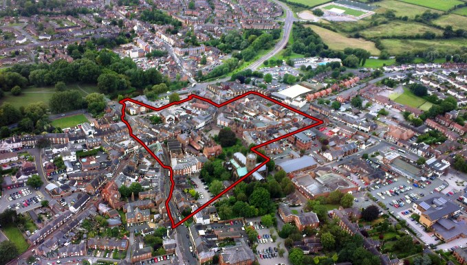 Nantwich Town Overlay, size of Hack Green travellers site plan