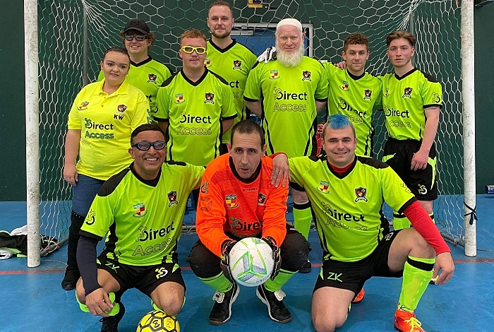 Nantwich Town Wolves Visually Impaired Football Club team photo (1)