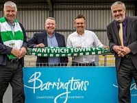 Nantwich accountants Barringtons renew sponsorship deal with Nantwich Town