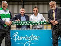 Nantwich accountants Barringtons renew sponsorship deal with Nantwich Town