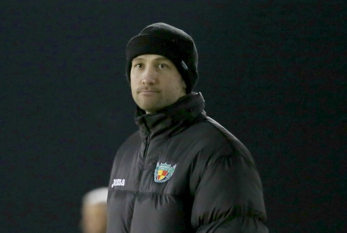 Defeat at Buxton - Nantwich Town boss Phil Parkinson against Blyth Spartans