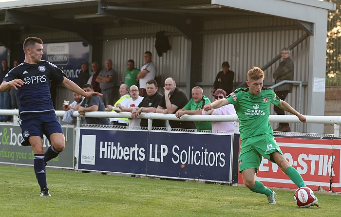 Nantwich Town cross the ball