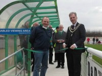Nantwich Mayor opens new disabled stand at Weaver Stadium