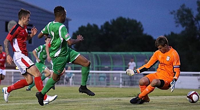 Nantwich Town goal - David Neligwa scores past Ben Garrett (2) (1)