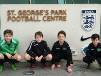 Nantwich Town youngsters play at St George's Park England facilities