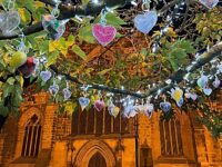 Nantwich Tree of Light shining bright again in town square
