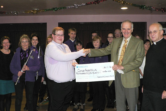 concert band and nantwich-young-voices-raise-for-local-cancer-research-group