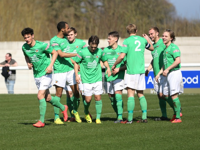 Nantwich celebrate against Witton Albion