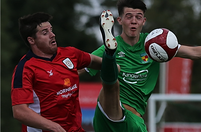 Nantwich v Crewe Alexandra - challenge for the ball (1)