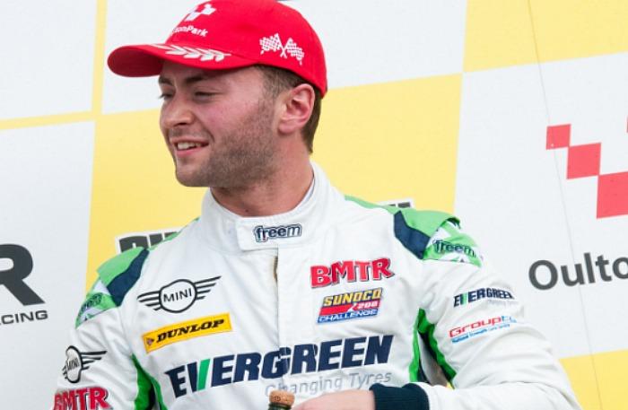 Nantwich driver Rob Smith at Oulton Park MINI challenge