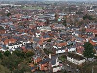 Aerial view of Nantwich town centre, pic by Jonathan White