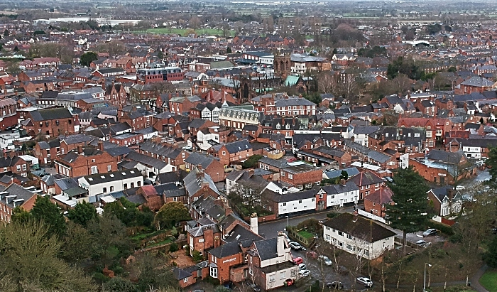 aerial view nantwich town centre