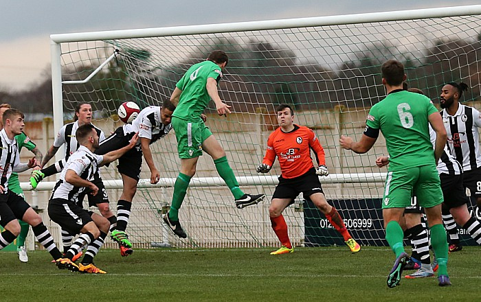 Nantwich goal against Coalville - Joel Stair heads home from a Matt Bell free-kick