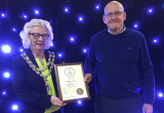 Nantwich in Bloom presentation - gold certificate
