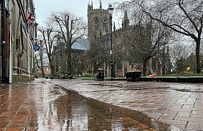 Nantwich in floods - by Jonathan White