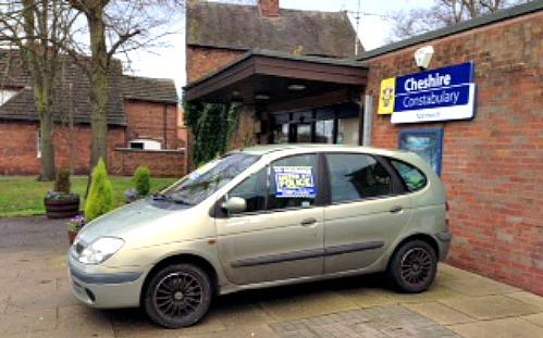 Nantwich police station car