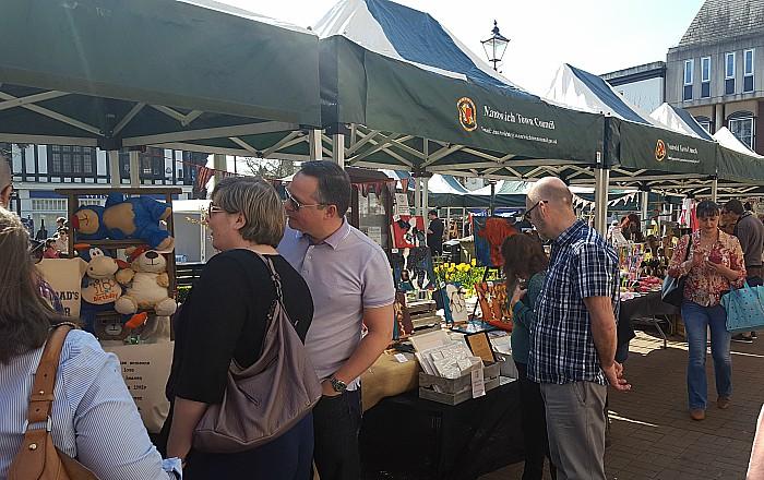 Nantwich spring market