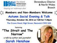 Journalist to give Nantwich talk for Inland Waterways Association
