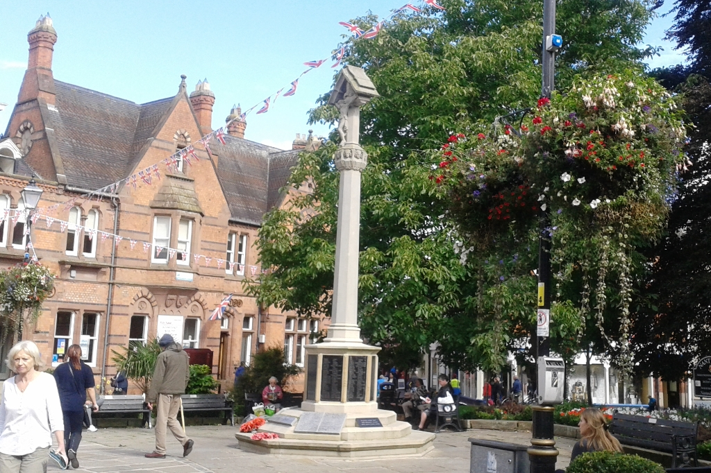 Nantwich war memorial and town square