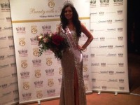 New Miss Cheshire wows judges with eco 'newspaper' dress