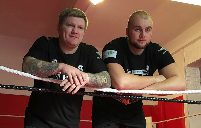 nathan-gorman-with-trainer-ricky-hatton